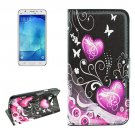 For Galaxy J7 (2016) Crystal Pattern Flip Leather Case with Holder, Card Slots & Wallet