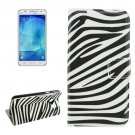 For Galaxy J7 (2016) Zebra Pattern Flip Leather Case with Holder, Card Slots & Wallet