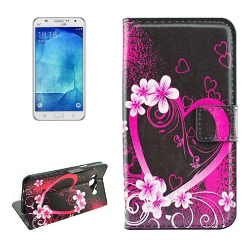 For Galaxy J7 (2016) Peach Pattern Flip Leather Case with Holder, Card Slots & Wallet