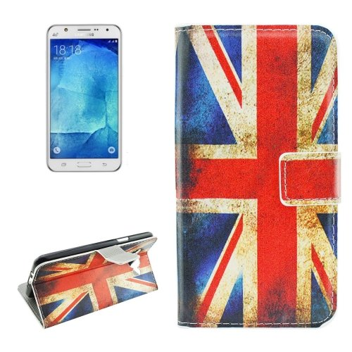 For Galaxy J7 (2016) UK Flag Pattern Flip Leather Case with Holder, Card Slots & Wallet
