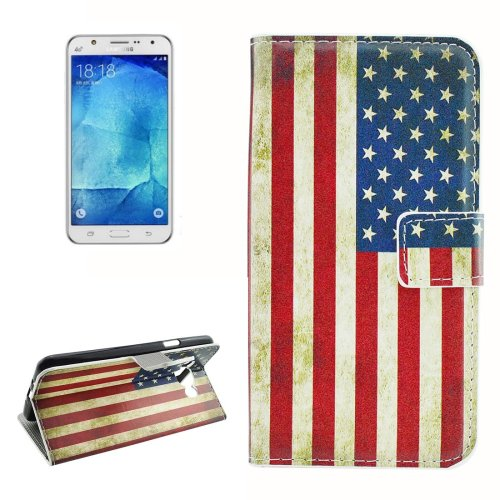 For Galaxy J7 (2016) US Flag Pattern Flip Leather Case with Holder, Card Slots & Wallet