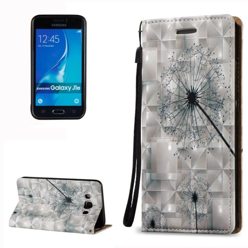 For Galaxy J7 (2016) 3D Relief Dandelion Pattern Flip Leather Case with Holder, Card Slots & Lanyard