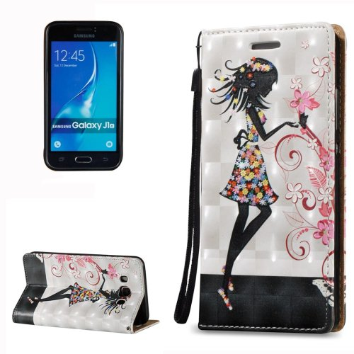 For Galaxy J7 (2016) 3D Relief Fairy Pattern Flip Leather Case with Holder, Card Slots & Lanyard
