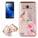 For Galaxy J7 (2016) Bird Pattern Electroplating Frame Soft TPU Protective Case