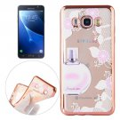 For Galaxy J7 (2016) Perfume Pattern Electroplating Frame Soft TPU Protective Case