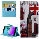 For Galaxy A3(2016) London Pattern Flip Leather Case with Holder, Card Slots & Wallet