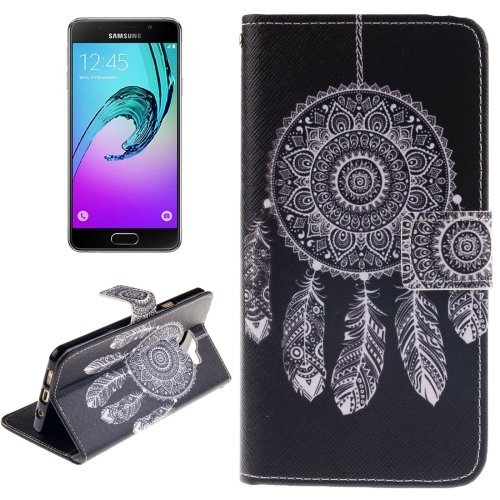 For Galaxy A3(2016) Windbell Pattern Flip Leather Case with Holder, Card Slots & Wallet