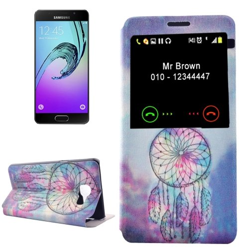 For Galaxy A3(2016) Dreamcatcher Pattern Flip Leather Case with Call Display ID & Holder