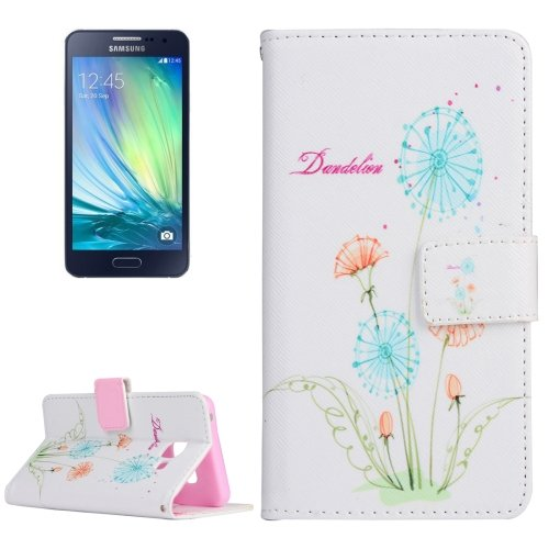 For Galaxy A3(2016) Dandelions Pattern Flip Magnetic Leather Case with Holder, Card Slots & Wallet