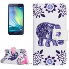 For Galaxy A3(2016) Elephant Pattern Flip Magnetic Leather Case with Holder, Card Slots & Wallet