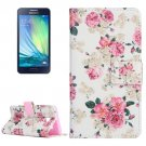 For Galaxy A3(2016) Rose Pattern Flip Magnetic Leather Case with Holder, Card Slots & Wallet