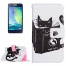 For Galaxy A3(2016) Cats Pattern Flip Magnetic Leather Case with Holder, Card Slots & Wallet