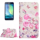 For Galaxy A3(2016) Beautiful Pattern Flip Magnetic Leather Case with Holder, Card Slots & Wallet