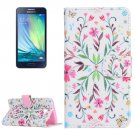 For Galaxy A3(2016) Flower Pattern Flip Magnetic Leather Case with Holder, Card Slots & Wallet