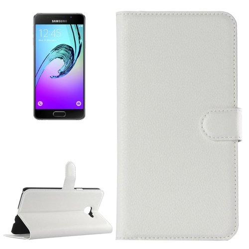 For Galaxy A3(2016) Litchi Texture Flip Leather Case with Holder, Card Slots & Wallet - # Colors
