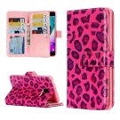 For Galaxy A3(2016) Leopard Pattern Flip Leather Case with 9 Card Slots, Wallet & Holder