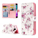 For Galaxy A3(2016) Rose Pattern Flip Leather Case with 9 Card Slots, Wallet & Holder