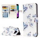 For Galaxy A3(2016) Butterflies Pattern Flip Leather Case with 9 Card Slots, Wallet & Holder
