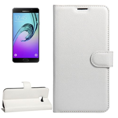 For Galaxy A3(2017) Magnetic Litchi Leather Case with Holder, Card Slots & Wallet - # Colors