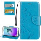 For Galaxy A3(2017) Butterflies Leather Case with Holder, Card Slots & Wallet - # Colors