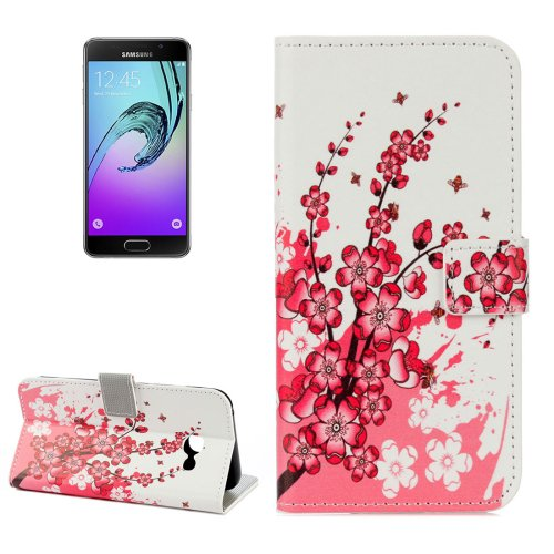For Galaxy A3(2017) Blossom Litchi Leather Case with Holder, Card Slots & Wallet - # Colors