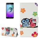 For Galaxy A3(2017) Lovers Owl Litchi Leather Case with Holder, Card Slots & Wallet - # Colors