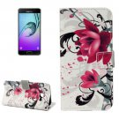 For Galaxy A3(2017) Lotus Litchi Leather Case with Holder, Card Slots & Wallet - # Colors