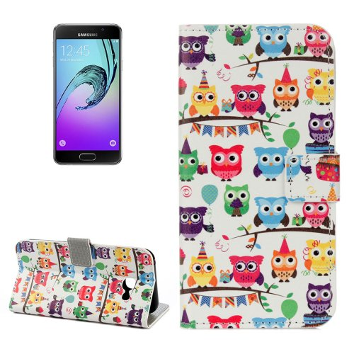 For Galaxy A3(2017) Owls Litchi Leather Case with Holder, Card Slots & Wallet - # Colors
