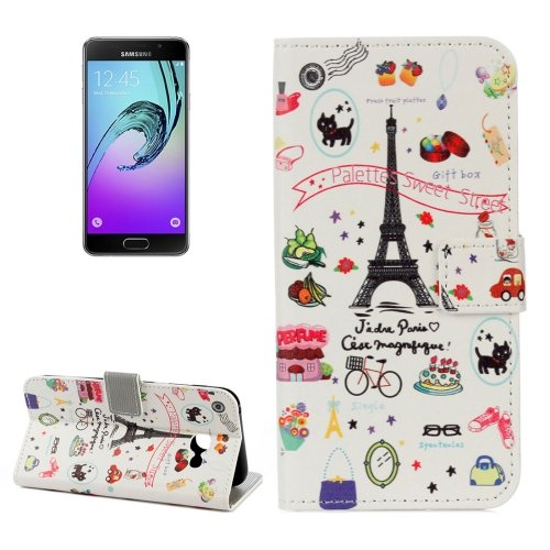 For Galaxy A3(2017) Cartoon Litchi Leather Case with Holder, Card Slots & Wallet - # Colors