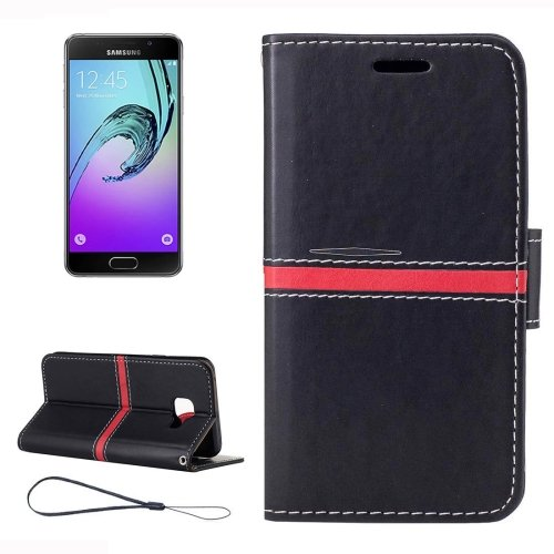 For Galaxy A3(2017) Crazy Horse Leather Case with Card Slots, Wallet & Photo Frame - # Colors