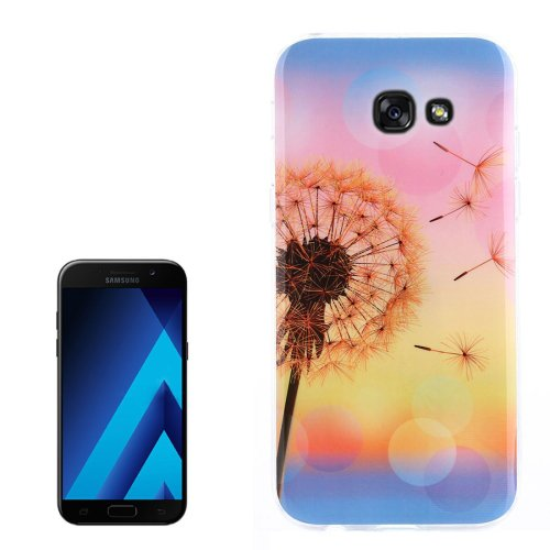For Galaxy A3(2017) Sunset Dandelion Pattern TPU Back Case
