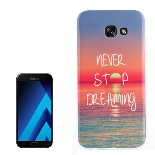 For Galaxy A3(2017) Sunrise Pattern TPU Back Case