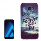 For Galaxy A3(2017) Dream Snow Pattern TPU Back Case