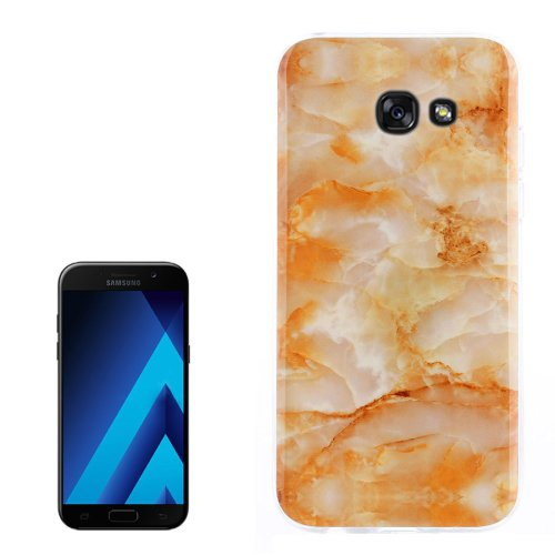 For Galaxy A3(2017) Marble Pattern TPU Back Case