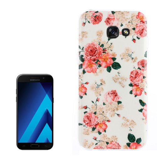 For Galaxy A3(2017) Rose Pattern TPU Back Case