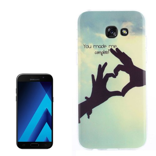 For Galaxy A3(2017) Love Pattern TPU Back Case