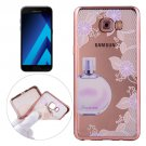 For Galaxy A3(2017) Perfume Pattern Electroplating Frame Soft TPU Protective Case