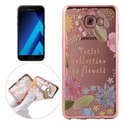 For Galaxy A3(2017) Lucky Pattern Electroplating Frame Soft TPU Protective Case
