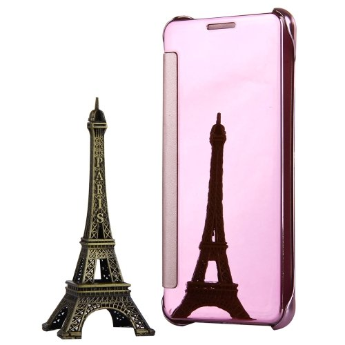 For Galaxy A3(2017) Pink Plating Mirror Flip Leather Case with Sleep / Wake-up Function