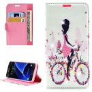 For Galaxy A7(2016) Lady Diamond 2 Leather Case with Holder, Card Slots & Wallet