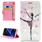 For Galaxy A7(2016) Lady Diamond 3 Leather Case with Holder, Card Slots & Wallet