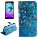 For Galaxy A7(2016) Flower Pattern Flip Leather Case with Holder, Card Slots & Wallet