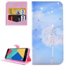 For Galaxy A7(2016) Dandelions Diamond Flip Leather Case with Holder, Card Slots & Wallet