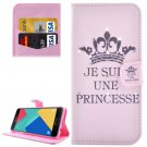 For Galaxy A7(2016) Princess Diamond Flip Leather Case with Holder, Card Slots & Wallet