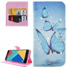 For Galaxy A7(2016) Butterflies Diamond Flip Leather Case with Holder, Card Slots & Wallet