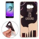 For Galaxy A7(2016) Sika Deer Pattern TPU Protective Case