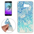 For Galaxy A7(2016) Leaves Pattern TPU Protective Case