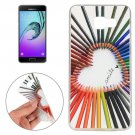 For Galaxy A7(2016) Pencil Pattern TPU Protective Case