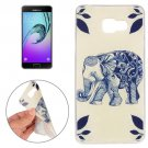 For Galaxy A7(2016) Elephant Pattern TPU Protective Case