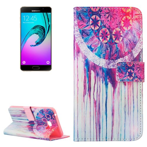 For Galaxy A7(2016) Dreamcatcher Pattern Leather Case with Holder, Card Slots & Wallet